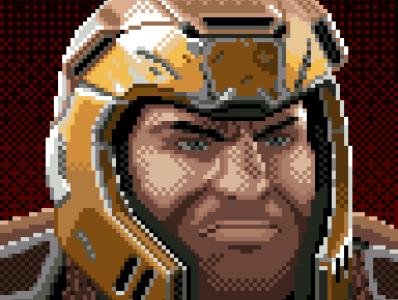 Ranger (Quake) 96x96 pixels portrait quake aseprite pixel art pixelart