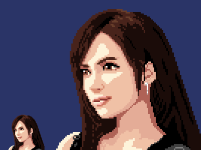 Tifa (Final Fantasy 7) 96x96 pixels ff7 final fantasy tifa lockhart tifa portrait pixelart pixel art aseprite