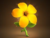 Running flower