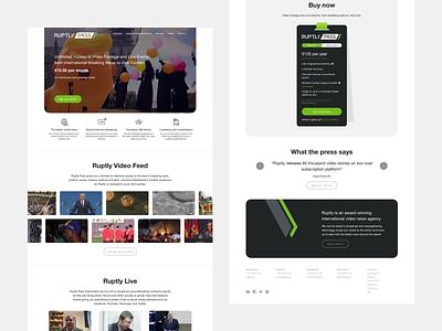 Ruptly Pass Desktop video landing adaptive design desktop website ruptly