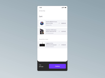 Daily UI: 002 Credit Card Checkout