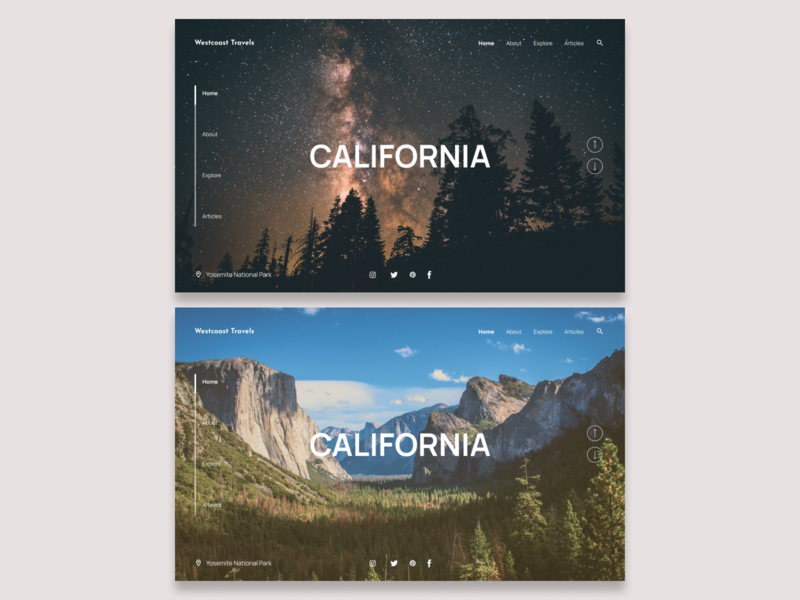 Daily UI Challenge #3 - Landing Page landing design landingpage california typography design ui travel desktop design dailyui