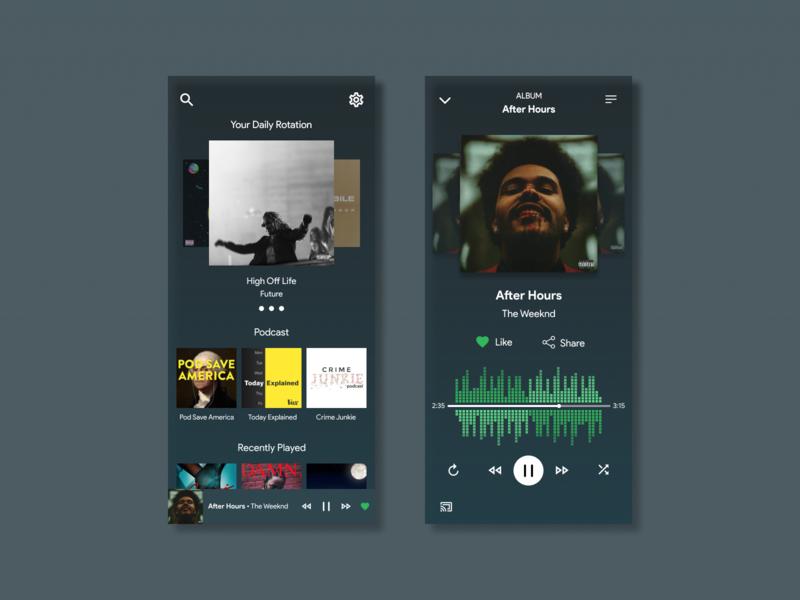 Daily UI Challenge #6 - Music Player modern music player ui design mobile app mobile design mobile ui mobile musicplayer dailyui