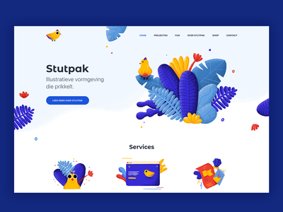 New site design character services tropical birds bird procreate design website design website illustration identity design idenity branding design branding