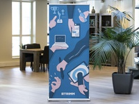 Roll up banner TRIMM