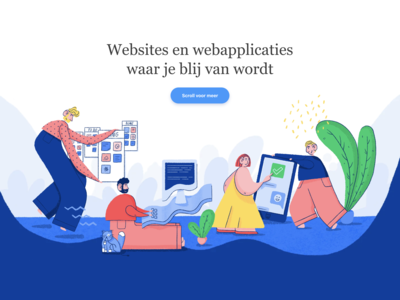 Website illustrations for Trendwerk