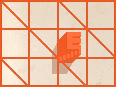 Grid Explorer 1 geometry oblique minimal color poster shape