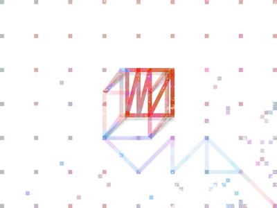 Permutation 2. cube #1 shape poster color minimal oblique geometry