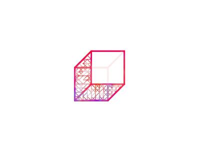 Permutation 2. button #2 shape poster color minimal oblique geometry