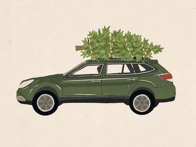 Christmas Subaru