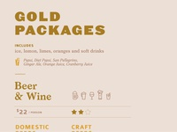Editorial Design - Beverage Catering Package