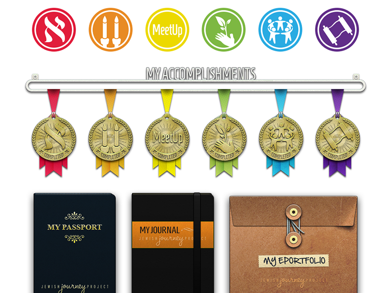 UI Collection for Site & App photoshop ui vector medal badge 3d jjp jewish journey project icons portfolio passport journal