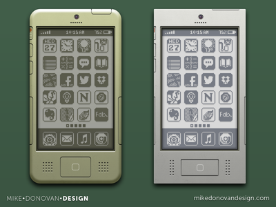 iPhone Throwback Designs legacy throwback 8-bit buttons homescreen iphone apple ios ui photoshop vector icons