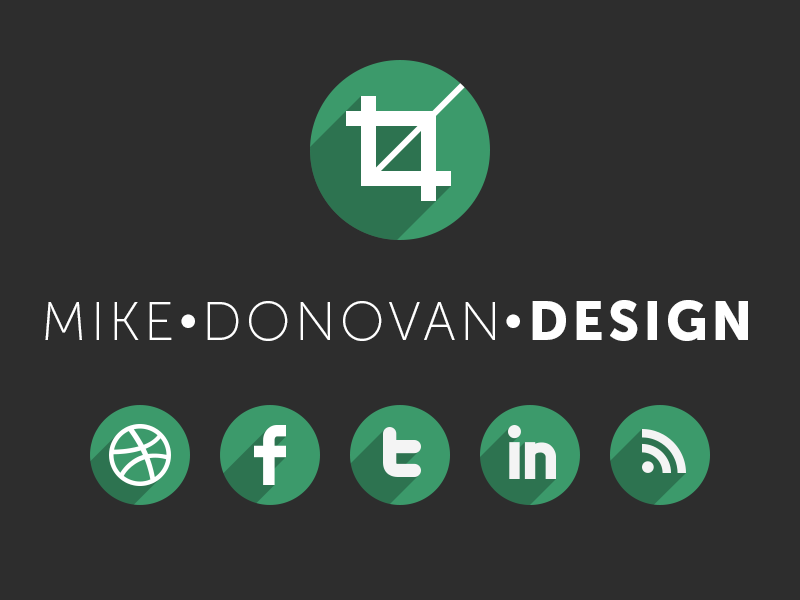 Mike Donovan Design Logo (and Website) logo ui vector psd photoshop website branding mike donovan design