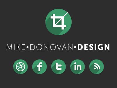 Mike Donovan Design Logo (and Website) logo ui vector psd photoshop website branding mike donovan design