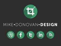 Mike Donovan Design Logo (and Website)
