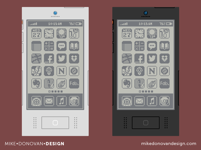 Flat Throwback iPhone Concepts