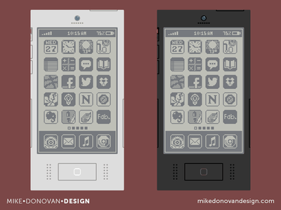 Flat Throwback iPhone Concepts icons vector photoshop ui ios apple iphone homescreen buttons 8-bit throwback flat