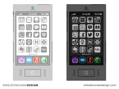 Flat Throwback iPhone Concepts (Highlight)