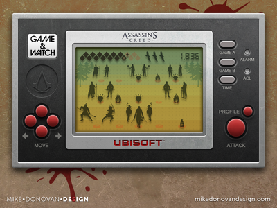 Handheld Video Game UI (Assassin's Creed)
