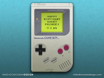 Freebie: Game Boy is 25! psd freebie vector photoshop concept game boy handheld nintendo download