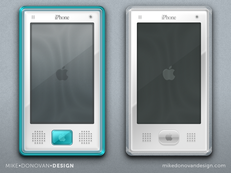 Throwback iPhone G3 & G4 Concepts vector photoshop ui ios apple iphone g3 g4 buttons throwback imac