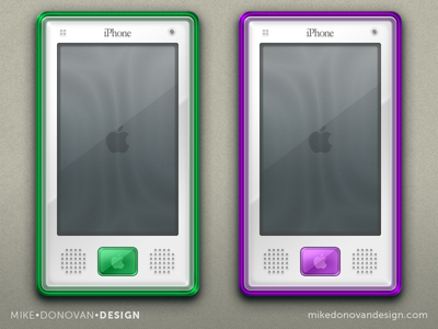 Throwback iPhone G3 Color Concepts (More) vector photoshop ui ios apple iphone g3 buttons throwback imac