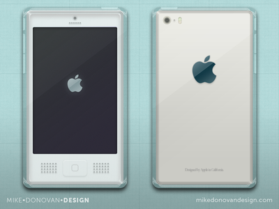 Throwback iPhone G4 Concept imac throwback buttons g4 iphone apple ios ui photoshop vector