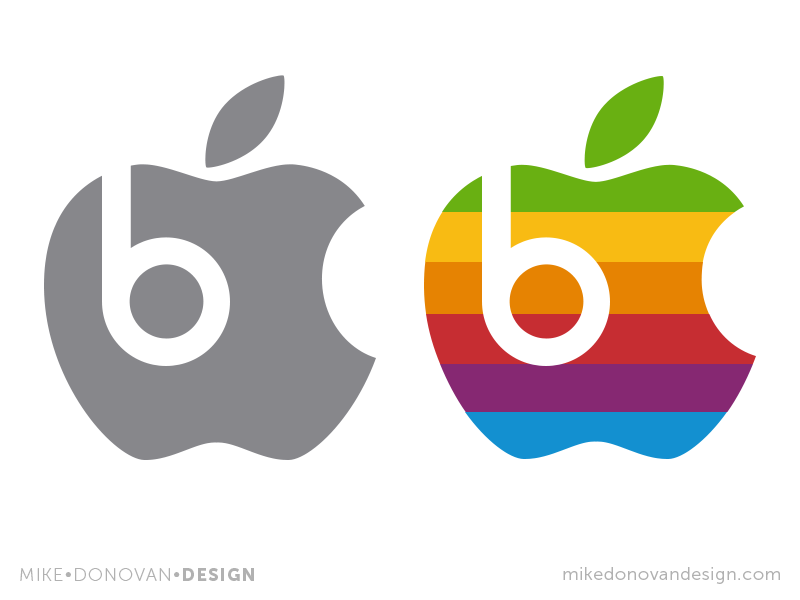 Apples & Beats: Old Meets New mashup logo photoshop vector apple beats throwback