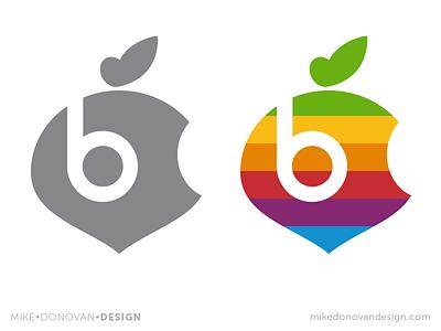 Apple Beets Parody Logo Mashup throwback beats apple vector photoshop mashup logo