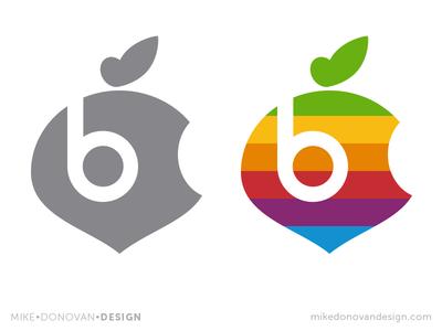Apple Beets Parody Logo Mashup