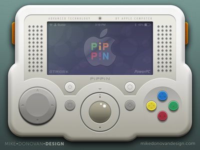 Throwback Apple Pippin Mashup vector photoshop apple ios video game buttons screen pippin throwback
