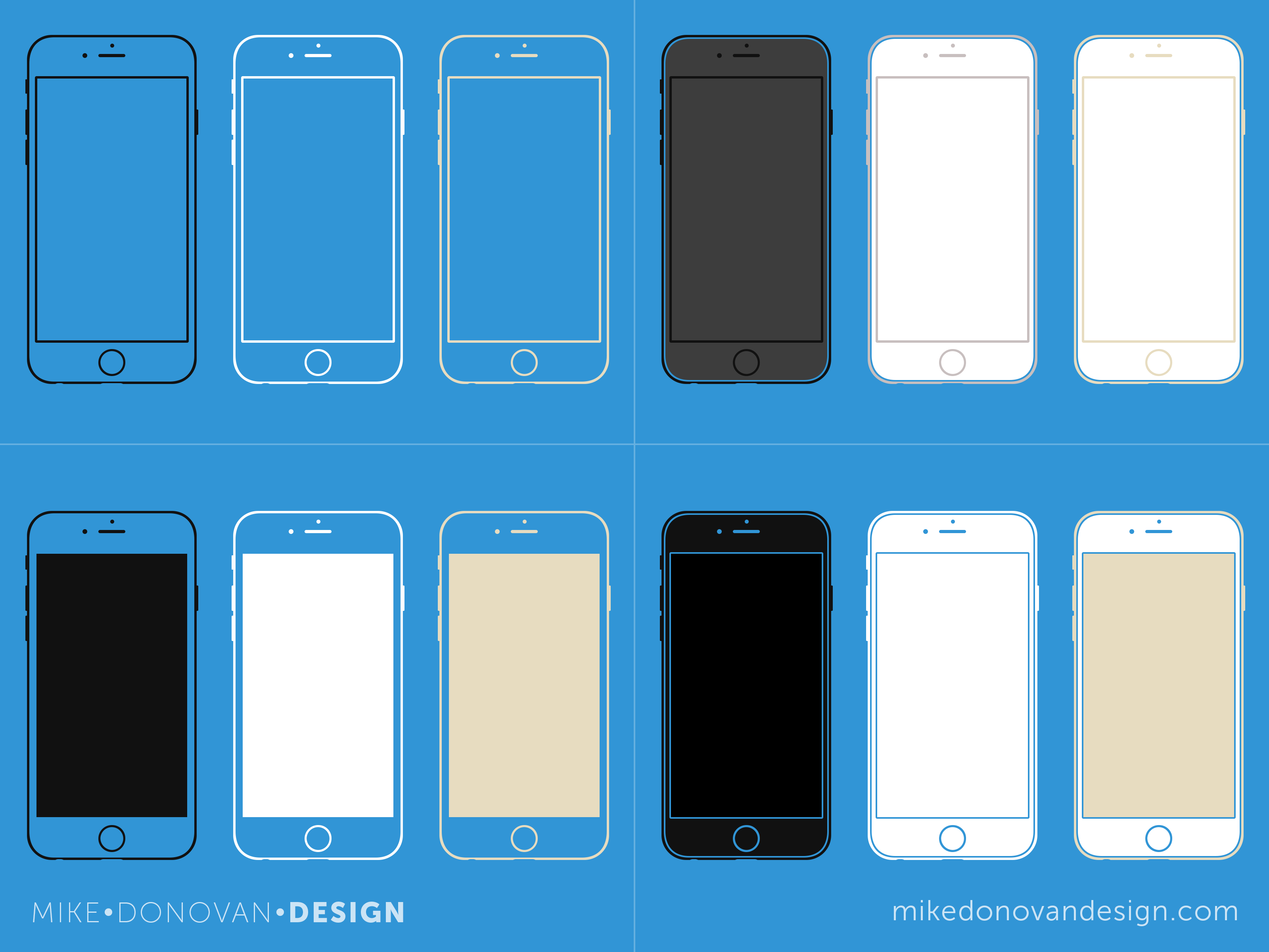 Iphone 6 wireframes full