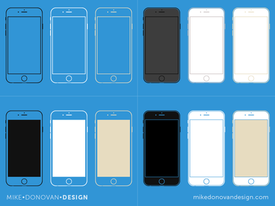 Freebie PSD: iPhone 6 Wireframe Collection freebie psd vector photoshop ui ios apple iphone wireframe iphone 6