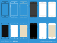 Freebie PSD: iPhone 6 Wireframe Collection