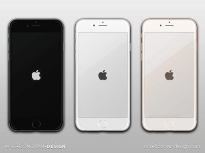 Freebie PSD: iPhone 6 Vector Mockups iphone 6 iphone apple ios ui photoshop vector psd freebie