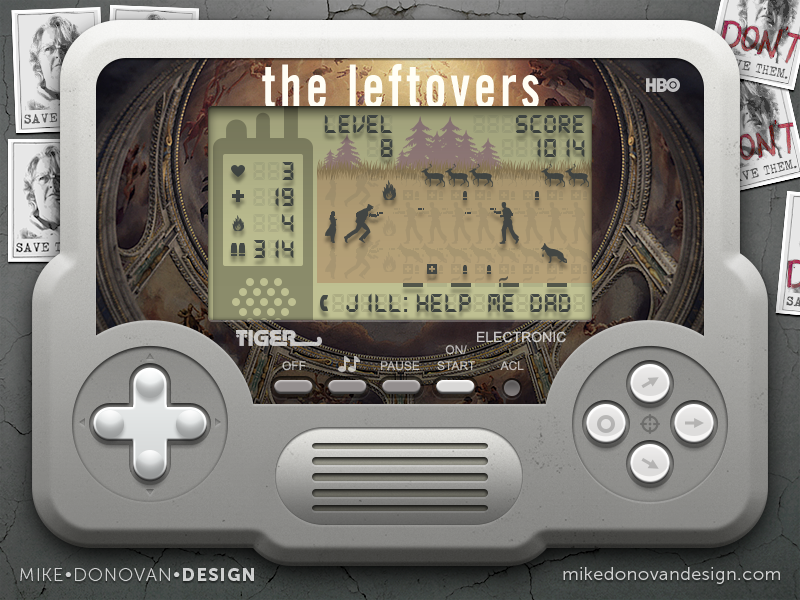 Handheld Video Game (The Leftovers) screen lcd icons buttons video game vector photoshop ui the leftovers
