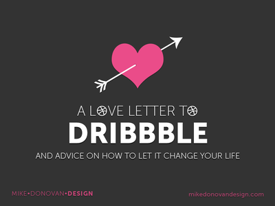 A Love Letter to Dribbble photoshop vector blog writing advice