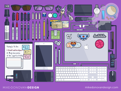 My Toolkit Illustrated photoshop vector illustration tools gadgets