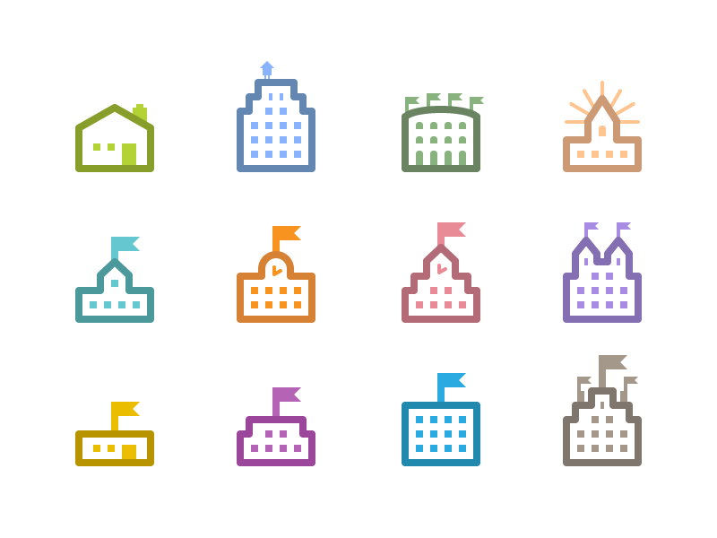 Community Icons ui icons flat illustrator vector