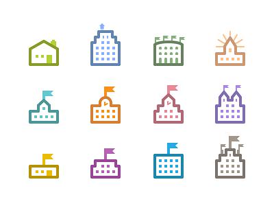 Community Icons ui icons flat illustrator vector