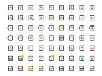 Activity & Indicator Icons ui icons flat photoshop vector
