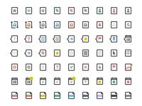 Activity & Indicator Icons ui icons flat photoshop vector