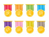 Completion Badges jewish journey project jjp badge completion medal award vector photoshop