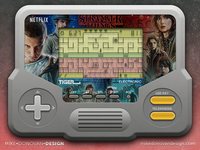 Stranger Things Handheld Game Concept stranger things game video vector ui screen photoshop lcd icons buttons
