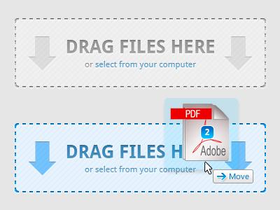 Drop Zone UI ui vector photoshop upload drop zone drag  drop