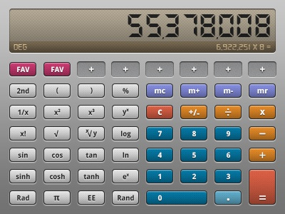 Calculator UI (Old School Style) by Mike Donovan on Dribbble