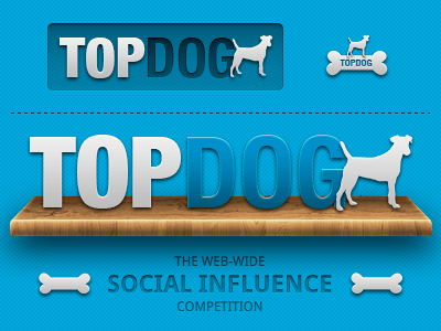 TopDog Logo Versions (Blue) ui photoshop vector typography icons brand topdog