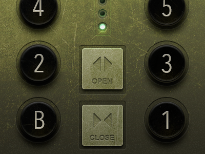 Ui buttons elevator