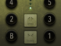 Old School Elevator Button UI